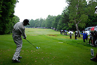 Jeev Milkha Singh drives off on the 16th hole during the final round of the BMW PGA Championship at Wentworth Club, Surrey, England 27th May 2007 (Photo by Eoin Clarke/NEWSFILE)
