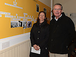 Jim and Geraldine Donegan pictured at the centenary of Fr Patrick Dowd exhibition at St Brigid's hall Dunleer. Photo:Colin Bell/pressphotos.ie