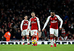 Arsenal's Jack Wilshere looks on dejected after Liverpool's third goal during the premier league match at the Emirates Stadium, London. Picture date 22nd December 2017. Picture credit should read: David Klein/Sportimage