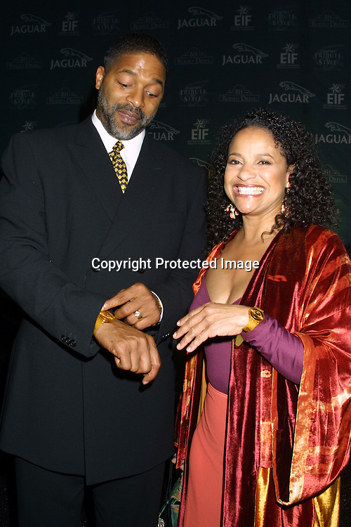 "©2002  KATHY HUTCHINS  / HUTCHINS PHOTO.""JAGUAR'S A TRIBUTE TO STYLE ON RODEO DRIVE"" GALA.SEPTEMBER 23, 2002.BEVERLY HILLS, CA.NORM NIXON AND DEBBIE ALLEN"
