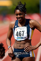 03 MAY 2010 - BEDFORD, GBR - Perri Shakes Drayton (Brunel University) wins the womens 400m race at the BUCS Outdoor Athletics Championships (PHOTO (C) NIGEL FARROW)