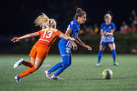 Allston, MA - Wednesday Aug. 31, 2016: Denise O'Sullivan, Ghoutia Karchouni during a regular season National Women's Soccer League (NWSL) match between the Boston Breakers and the Houston Dash at Jordan Field.