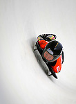 14 December 2007: Marion Trott, racing for Germany, exits the last turn and heads for the finish line during her first run of the FIBT World Cup Skeleton Competition at the Olympic Sports Complex on Mount Van Hoevenberg, at Lake Placid, New York, USA. ..Mandatory Photo Credit: Ed Wolfstein Photo