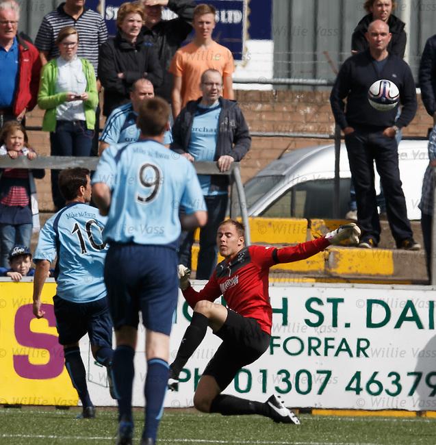 Gavin Swankie lobs Rangers keeper Scott Gallacher to open the scoring for Forfar