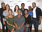 (L-R, Top) Larry Powell, S. Epatha Merkerson, Sheryl Kaller, playwright Billy Porter, Lillias White, Kevyn Morrow, (L-R, Bottom) Sheria Irving, Elain Graham and Sharon Washington attends the 'While I Yet Live' Meet & Greet at Primary Stages Rehearsal Studio on September 12, 2014 in New York City