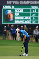 Tyrrell Hatton (ENG) on the 13th green during the 2nd round at the PGA Championship 2019, Beth Page Black, New York, USA. 18/05/2019.<br /> Picture Fran Caffrey / Golffile.ie<br /> <br /> All photo usage must carry mandatory copyright credit (&copy; Golffile | Fran Caffrey)