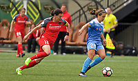 Portland, OR - Saturday April 29, 2017: Danielle Colaprico, Christine Sinclair during a regular season National Women's Soccer League (NWSL) match between the Portland Thorns FC and the Chicago Red Stars at Providence Park.