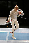 25 MAR 2016:  Harvard's Adrienne Jarocki celebrates her semifinal win over Leanne Singleton-Comfort in the women's saber event at the Division I Women's Fencing Championship held at the Gosman Sports and Convention Center in Waltham, MA. Jarocki defeated Singleton-Comfort 15-9 to advance to the finals.  Damian Strohmeyer/NCAA Photos