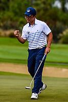 Jang Hyun Lee of Auckland goes 1 up, Toro New Zealand Mens Interprovincial Tournament, Clearwater Golf Club, Christchurch, New Zealand, 26th November 2018. Photo:John Davidson/www.bwmedia.co.nz