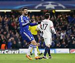 Chelsea's Diego Costa celebrates scoring his sides opening goal <br /> <br /> - UEFA Champions League - Chelsea vs Paris Saint Germain - Stamford Bridge - London - England - 9th March 2016 - Pic David Klein/Sportimage