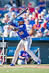 28 February 2019: New York Mets infielder Adeiny Hechavarria at bat during a Spring Training game against the St. Louis Cardinals at Roger Dean Stadium in Jupiter, Florida. The Mets defeated the Cardinals 3-2 in Grapefruit League play. Mandatory Credit: Ed Wolfstein Photo *** RAW (NEF) Image File Available ***