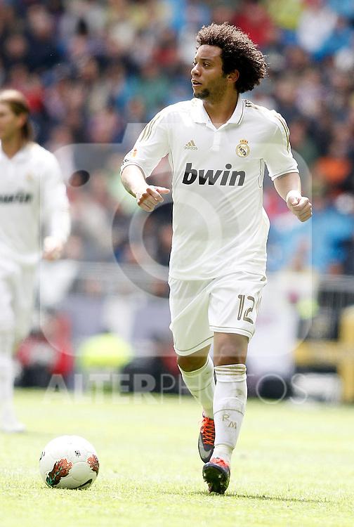 Real Madrid's Marcelo during La Liga match. April 29, 2012. (ALTERPHOTOS/Alvaro Hernandez)