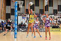 Pulse&rsquo; Ameliaranne Ekenasio in action during the Netball Pre Season Tournament - Pulse v Stars at Ngā Purapura, Otaki, New Zealand on Saturday 9 February  2019. <br />