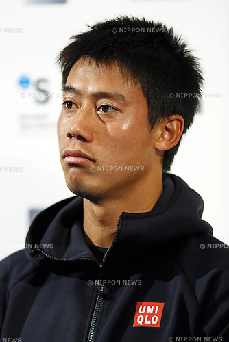 Kei Nishikori (JPN), APRIL 17, 2015 - Tennis : The ATP 500 World Tour Barcelona Open Banco Sabadell tennis tournament at the Real Club de Tenis in Barcelona, Spain, (Photo by D.Nakashima/AFLO)