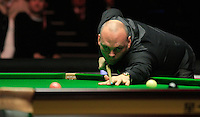 Stuart Bingham watches on as the pink ball glides into the pocket during the Dafabet Masters Q/F 4 match between John Higgins and Stuart Bingham at Alexandra Palace, London, England on 15 January 2016. Photo by Liam Smith / PRiME Media Images