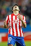 MADRID (08/04/2010).- Europe League quarter finals match. Atletico de Madrid vs Valencia. Sergio Kun Aguero...Photo: Cebolla-Cid-Fuentes/ ALFAQUI