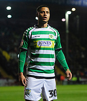 Yeovil Town's Alefe Santos<br /> <br /> Photographer Chris Vaughan/CameraSport<br /> <br /> The EFL Sky Bet League Two - Lincoln City v Yeovil Town - Friday 8th March 2019 - Sincil Bank - Lincoln<br /> <br /> World Copyright © 2019 CameraSport. All rights reserved. 43 Linden Ave. Countesthorpe. Leicester. England. LE8 5PG - Tel: +44 (0) 116 277 4147 - admin@camerasport.com - www.camerasport.com