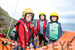 Ballyheigue Inshore Rescue Open Day at the Boathouse on Dromature Pier on Sunday Pictured l-r Ross O'Herlihy, samuel de digeo and Sonia de digeo