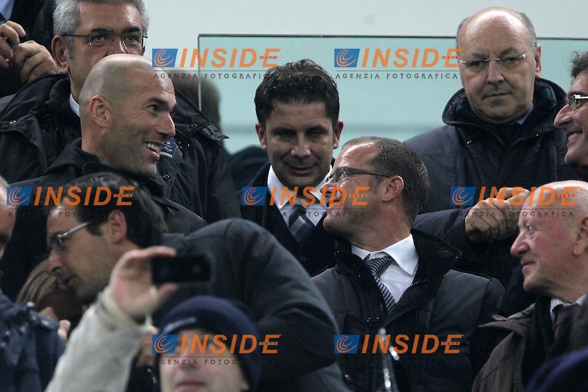 Zinedine Zidane Andrea Pessotto.Torino 20/11/2012 Juventus Stadium.Football Calcio UEFA Champions League 2012/13.Juventus v Chelsea.Foto Insidefoto Paolo Nucci.