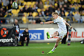9th June 2017, Westpac Stadium, Wellington, New Zealand; Super Rugby; Hurricanes versus Chiefs;  Chiefs' Damian McKenzie goes for a conversion kick
