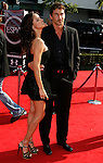 Model Adriana Lima (L) and NBA basketball player Marco Jaric arrive at the 2008 ESPY Awards held at NOKIA Theatre L.A. LIVE on July 16, 2008 in Los Angeles, California.
