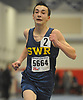 Adam Zelin of Shoreham-Wading River competes in the 3,200 meter race during the Suffolk County varsity boys track and field small schools championship at Suffolk Community College Grant Campus in Brentwood on Friday, Feb. 2, 2018.