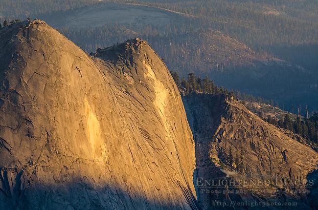 Sunset light on Quarter Domes, Yosemite National Park, California