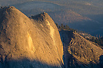 Sunset light on Quarter Domes, Yosemite National Park, California