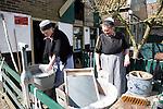 Urk village women washing by hand, Zuiderzee museum, Enkhuizen, Netherlands