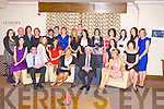 Bertie O'Connor, Tralee, outgoing principal of Cullina National School, Beaufort, pictured with Sandra Walsh, Sean O'Connor, Elaine O'Connor, Lorraine Counihan, Mary O'Connor, Lisa O'Sullivan, Moira Cronin, Siobhan Hayes, Una Costello, Mike Coffey, Lisa Murphy, Nora Ferris, Siobhan O'Shea, Karen Lucey, Ellen Doyle, Jemma Doyle, Pat Fitzgerald, Emma Dennehy, Teresa Coffey, Agnes Curran, Lisa Dennehy, Catherine O'Shea and Marie Murphy as he celebrated his retirement from the school after 33 years in The Brehon Hotel, Killarney on Friday night.