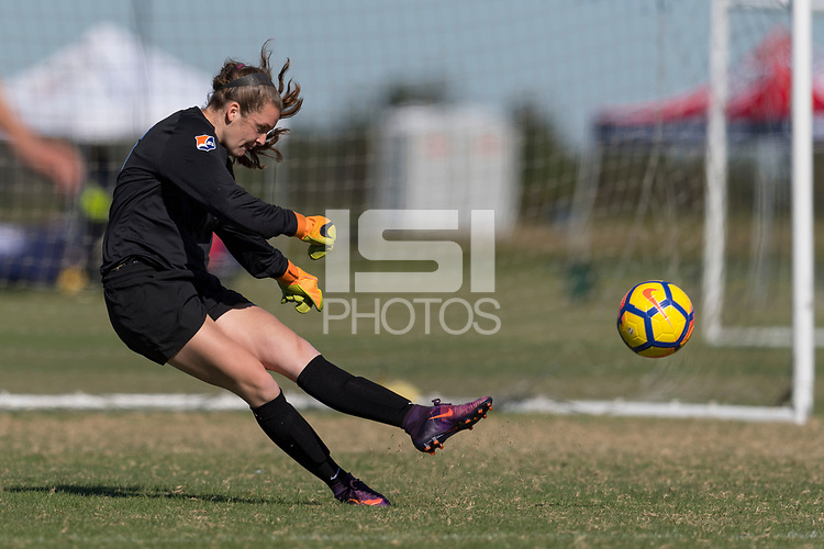 Lakewood Ranch, FL - Sunday Dec. 10, 2017: Meagan McClelland (15) during the 2017 Development Academy Winter Showcase & Nike International Friendlies at Premier Sports Campus at Lakewood Ranch, FL.