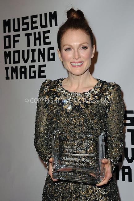 WWW.ACEPIXS.COM<br /> January 20, 2015 New York City<br /> <br /> Julianne Moore attending the Museum of The Moving Image honors Julianne Moore at 583 Park Avenue on January 20, 2015 in New York City.<br /> <br /> Please byline: Kristin Callahan/AcePictures<br /> <br /> ACEPIXS.COM<br /> <br /> Tel: (212) 243 8787 or (646) 769 0430<br /> e-mail: info@acepixs.com<br /> web: http://www.acepixs.com