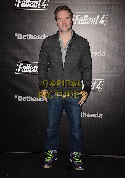 05 November - Los Angeles, Ca - Scott Porter. Arrivals for the official launch party of the video game &quot;Fallout 4&quot; held at a private location in Downtown LA.  <br /> CAP/ADM/BT<br /> &copy;BT/ADM/Capital Pictures