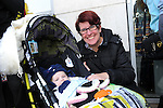 FREE PIC - NO REPRO FEE<br /> 24/09/2015 - Blackpool, Cork<br /> Katherine Barrett from Dublin Street, Blackpool with her three-month-old grandson Lee Sean at the official opening of the new Dealz store at Blackpool Retail Park, Cork.<br /> Pic: Brian Lougheed