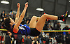 Alice Chiodo of Glenn clears the bar during the high jump competition in the Suffolk County girls winter track and field state qualifiers at Suffolk Community College Grant Campus in Brentwood on Monday, Feb. 12, 2018.