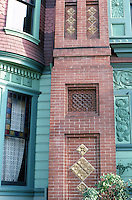 Los Angeles: Hale House. Detail of chimney.