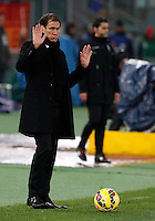 Calcio, Serie A: Roma vs Empoli. Roma, stadio Olimpico, 31 gennaio 2015.<br /> Roma's coach Rudi Garcia gestures during the Italian Serie A football match between AS Roma and Empoli at Rome's Olympic stadium, 31 January 2015.<br /> UPDATE IMAGES PRESS/Riccardo De Luca