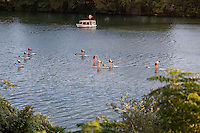 Yoga paddle boarding on Lady Bird Lake becomes new craze in Austin, Texas
