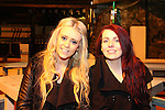 Shauna Brannigan and Eve Kent enjoying a night out in McPhails.<br /> Picture: Shane Maguire / www.newsfile.ie