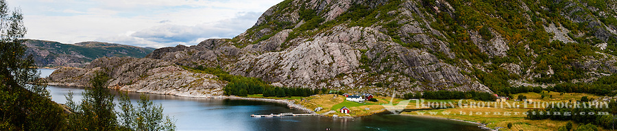 Norway, Trondelag. Simavik, a roadless location in Stokksund. Stitched panorama.