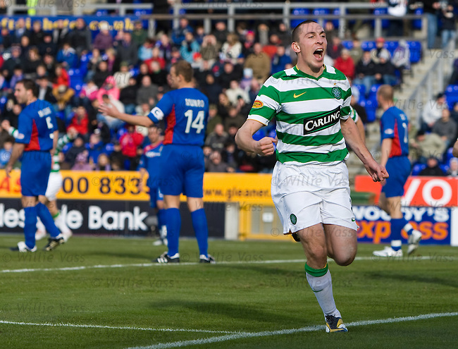 Scott Brown celebrates his goal