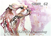 Simon, REALISTIC ANIMALS, REALISTISCHE TIERE, ANIMALES REALISTICOS, paintings+++++LizC_QueenOtter,GBWR62,#a#, EVERYDAY