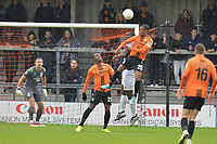 Mauro Vilhete of Barnet heads over during Barnet vs Woking, Vanarama National League Football at the Hive Stadium on 12th October 2019