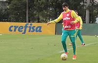 SÃO PAULO,SP,22.07.2016 - FUTEBOL-PALMEIRAS - Thiago Martins durante treino técnico na Academia de Futebol, na Barra Funda zona oeste de São Paulo, na manhã desta sexta-feira (22). (Foto : Marcio Ribeiro / Brazil Photo Press)