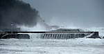 Waves hit the coast in Donostia on March 3, 2014, Basque Country. (Ander Gillenea / Bostok Photo)
