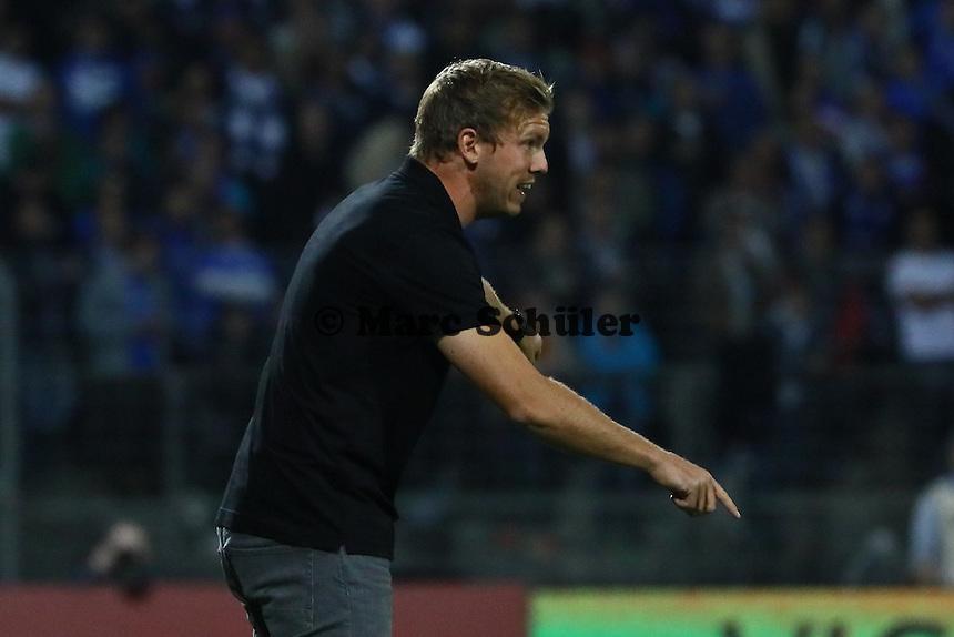 Trainer Julian Nagelsmann (TSG 1899 Hoffenheim) regt sich auf - SV Darmstadt 98 vs. TSG 1899 Hoffenheim, Johnny Heimes Stadion am Boellenfalltor