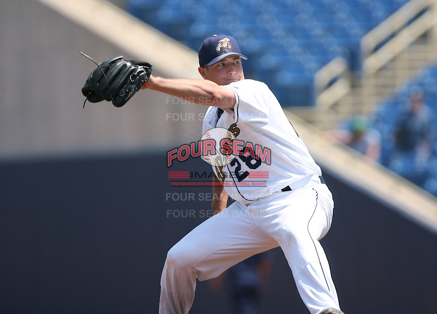 Neil Wagner of the Lake County Captains vs. the Delmarva Shorebirds: June 14th, 2007 at Classic Park in Eastlake, OH.  Photo by Mike Janes/Four Seam Images