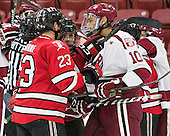 Lou Nanne (RPI - 23), ?, Brayden Jaw (Harvard - 10) - The Harvard University Crimson defeated the visiting Rensselaer Polytechnic Institute Engineers 5-2 in game 1 of their ECAC quarterfinal series on Friday, March 11, 2016, at Bright-Landry Hockey Center in Boston, Massachusetts.