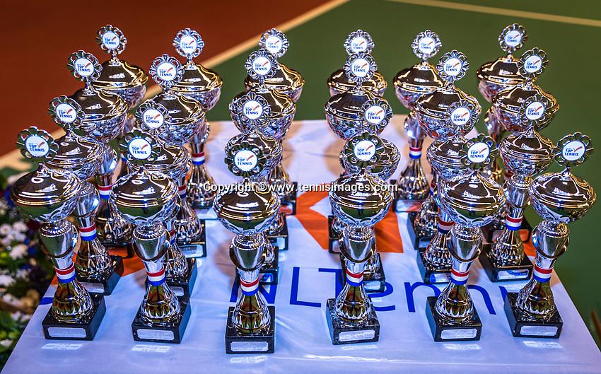 Wateringen, The Netherlands, December 15,  2019, De Rhijenhof , NOJK juniors doubles , Trophy's<br /> Photo: www.tennisimages.com/Henk Koster
