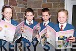 SPELLING: Pupils from Scoil Eoin going over their spelling as they prepare for the Eason's Bees Spelling School's Semi-Final at Scoil Eoin Balloonagh,Tralee on Wednesday l-r: Eadrea Hayes,Seán Hill, Dylan Cunningham and Ava Gannon.